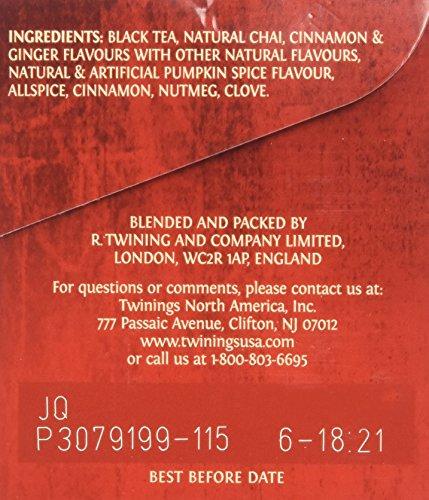 Twinings Pumpkin Spice Chai Tea, 40 Count by Twinings (Image #3)