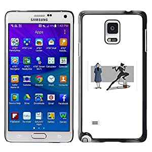 Plastic Shell Protective Case Cover || Samsung Galaxy Note 4 SM-N910 || Heroine Mask Woman Tail Bat Cartoon Character @XPTECH