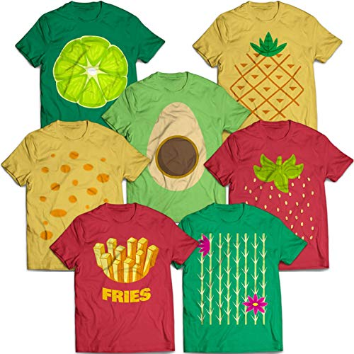 Fruit Group Costume Halloween Matching Group Costume Avocado Strawberry Pineapple Lime Customized Handmade T-Shirt Hoodie/Long Sleeve/Tank Top/Sweatshirt]()