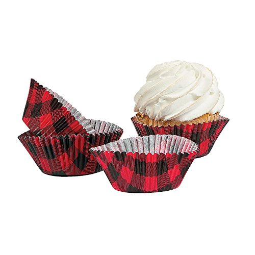red and black cupcake liners - 1