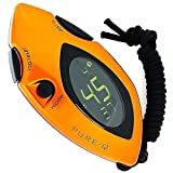 Pure-Q Metallic Orange Stop Watch On Cord With Many Features - The perfect Gift