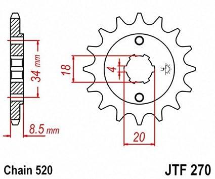 JT Sprockets JTF1407.10 10T Steel Front Sprocket
