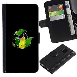 YiPhone /// Tirón de la caja Cartera de cuero con ranuras para tarjetas - Victreebel P0kemon - Samsung Galaxy S5 V SM-G900