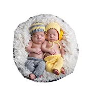 Pinbo Baby Twins Boys Girls Photography Prop Crochet Knitted Hat Pants