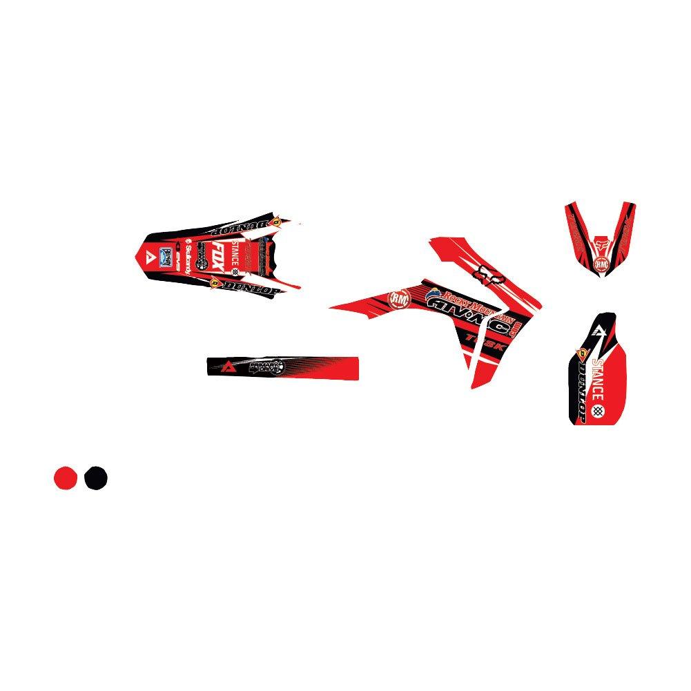 AttackグラフィックスカスタムBlitzフルトリムキットレッド/ブラック – Fits : Honda cr250r 2000 – 2007   B07BY7HPLS
