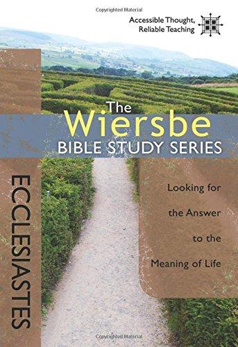 Wiersbe Bible Study Ecclesiastes Looking