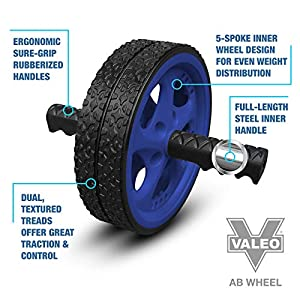 Dual Ab Wheel, Exercise And Fitness Wheel With Easy Grip Handles For Core Training And Abdominal Workout