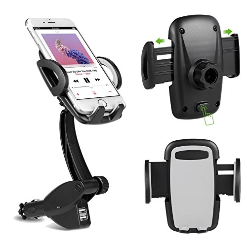 USB Port Lighter Charger Mount Holder for Smart Phones (Black) - 5