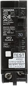 Siemens QF130A Ground Fault Circuit Interrupter, 30 Amp, 1 Pole, 120V, 10,000 AIC