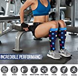 BLUETREE Compression Socks,(3 pairs) Compression Sock for Women & Men - Best For Running, Athletic Sports, Crossfit, Flight Travel(Multti-colors9-S/M)