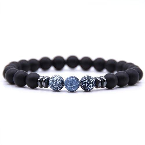 Amazon.com: Stretch - NEW Black Lava Stone Chakra Beads ...