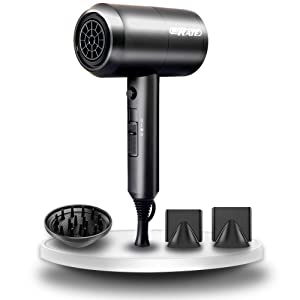 SHRATE Ionic Hair Dryer, Professional Salon Negative Ions Hair Blow Dryer Powerful 1800W for Fast Drying with 3 Heating / 2 Speed/Cool Button, Constant Temperature Hair Care Without Damaging Hair