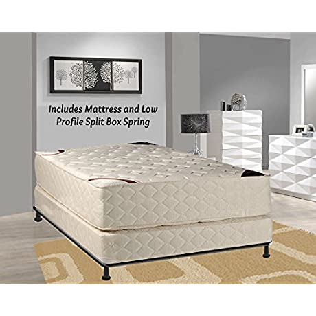 Spring Solution 14 Firm Fully Assembled Orthopedic Type Mattress And 5 Inch Split Box Spring King