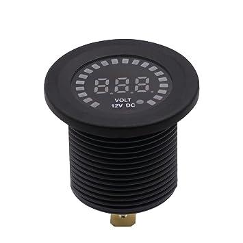 Sharplace Voltímetro Digital LED de Universal 12V Para Barco ...