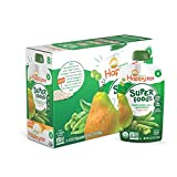 Happy Tot Organics Super Foods, Pears, Peas & Green Beans + Super Chia, 4.22 Ounce (Pack of 16)