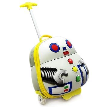 Maleta Luggo Robot mamamemo - encender ruedas y correas de la mochila, bolsa de viaje
