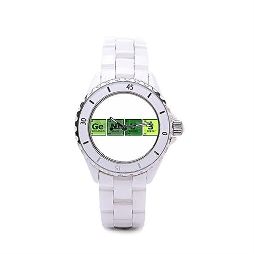 papibaby barato Relojes de pulsera. Química de cerámica reloj para mujer: Amazon.es: Relojes