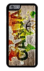 iZERCASE iPhone 6 PLUS Case Rasta Ganja on Wood Pattern RUBBER CASE - Fits iPhone 6 PLUS T-Mobile, Verizon, AT&T, Sprint and International by runtopwell