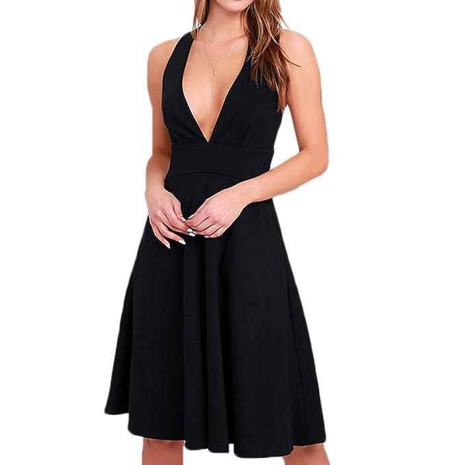 Hasta la rodilla vestidos de verano de la playa mujeres modelo Cuello redondo línea de vestidos