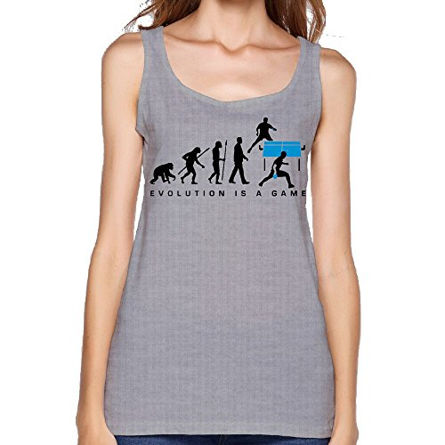 Evolution is A Table Tennis Game Womens Sleeveless Slim Blouse Shirt Comfy Tank Top Vest by HF9Q