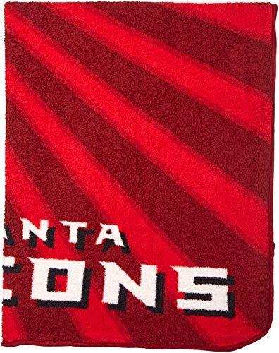 The Northwest Company Officially Licensed NFL Atlanta Falcons Strobe Sherpa on Sherpa Throw Blanket, 50