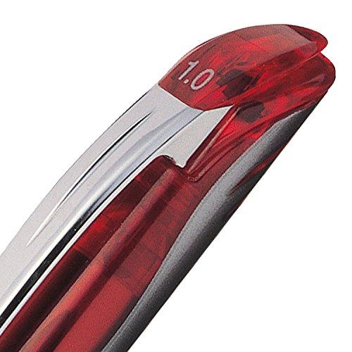 Pentel EnerGel Deluxe Liquid Gel Pen, Bold Line, Metal Tip, Red Ink, Box of 12 (BL60-B) by Pentel (Image #5)