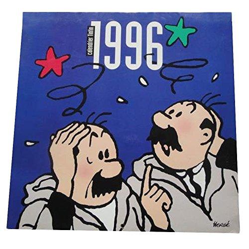 Moulinsart 1996 Calendar The Adventures of Tintin Thomson and Thompson 30x30cm - Calendar Tintin