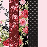 Cricut Joy Adhesive-Backed Deluxe Paper - DIY Craft Paper for Scrapbooking and other Art Projects - Anna Griffen Rose, 10 ct