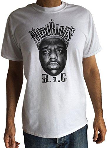 Herren Notorious B.I.G Gesichter–Hip Hop Swag Rap Tupac Biggie Smalls Gangster BLK c16- 7