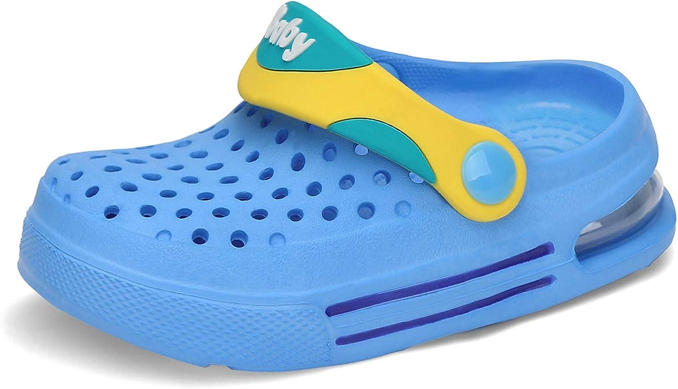 Zuecos Niño Respirable Zuecos de Jardin Niña Antideslizante Zapatos de Jardín Verano Zapatillas de Playa Azul Gr.24-25: Amazon.es: Zapatos y complementos