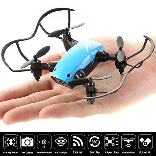 Nano Mini RC Portable Pocket Foldable Stunt Drone Quadcopter Helicopter for Kids, Beginners, Indoor & Outdoor- Camera, Remote Control, Headless Mode & Altitude Hold (Stunt System)