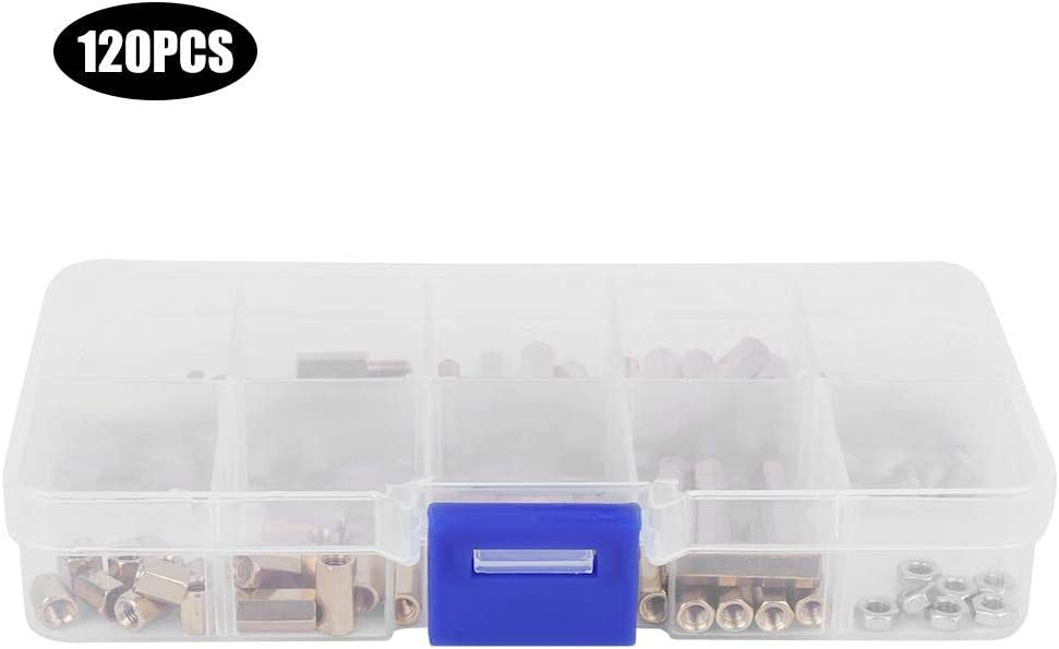 long service life Nut Assortment Kit Screw Accessories Transparent box packaging Nut Inserts M3 Types Nuts Assortment Kit Home Tool