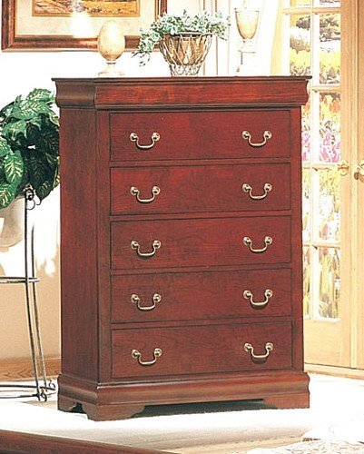 Coaster Louis Philippe Style Chest/Dresser,Cherry Finish Wood - bedroomdesign.us