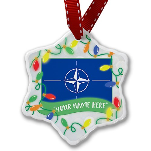 Personalized Name Christmas Ornament, NATO (North Atlantic Treaty Organization) Flag NEONBLOND by NEONBLOND