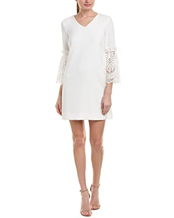 67c139f8 Tahari ASL Womens Lace Bell Sleeve Shift Dress at Amazon Women's Clothing  store: