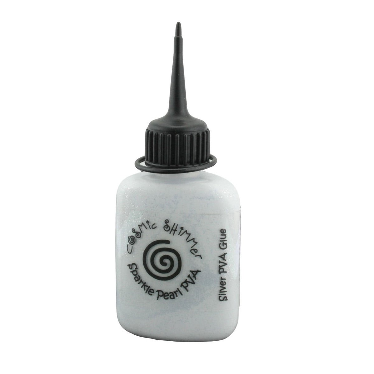 Cosmic Shimmer Sparkle Pearl Coloured PVA Glue 30ml Silver Sparkle CSGSILVSPK