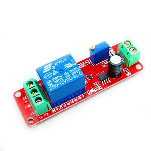 (HiLetgo NE555 DC 12V Delay Timer Switch Adjustable Module 0 to 10 Second)