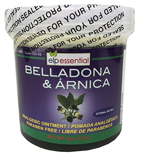 Belladona and Arnica Analgesic Ointment 5 oz (141g) Paraben Free