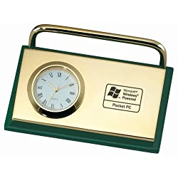 CARD HOLDER WITH CLOCK - Green