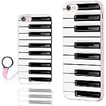 iPhone 8 Case Cute,iPhone 7 Case Cool,ChiChiC [Orignal Series] Anti-Scratch Slim Flexible Soft TPU Rubber Cases Cover for Apple iPhone 7 8 4.7 Inch,piano key black white