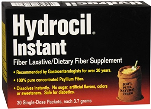 Hydrocil Instant Fiber Laxative Packets 30 Each (Pack of 7) by Hydrocil