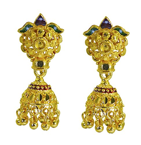 plaqué or Riyo plaine boucle d'oreille plaine bonne mine à la main bijoux modernes gpejhu-120026