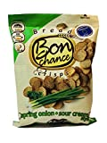 Crisps snacks Originaly baked rye-wheat bread Bon Chance Spring Onion and Sour Cream style flavor 4.2 oz size For Sale