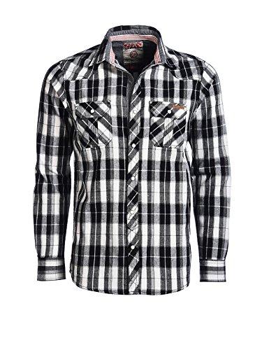 Tokyo Laundry Men Herren Freizeithemd Bower schwarz XL