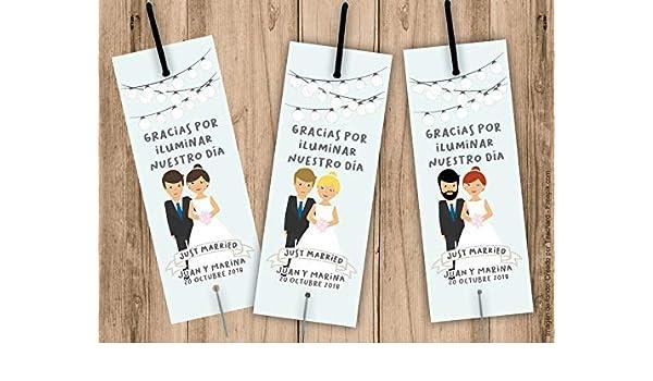 Porta bengalas para bodas. Bengala NO incluida. Pack 25 unidades. Tarjetas para bengalas personalizadas: Amazon.es: Handmade