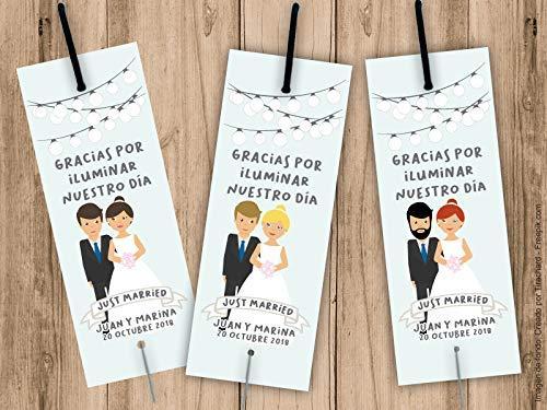 Porta bengalas para bodas. Bengala NO incluida. Pack 25 unidades ...