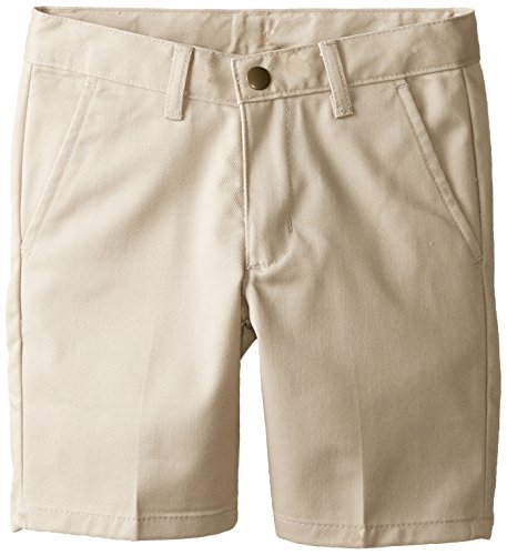 IZOD Little Boys' Flat Front Short Regular, Khaki, 5 by IZOD