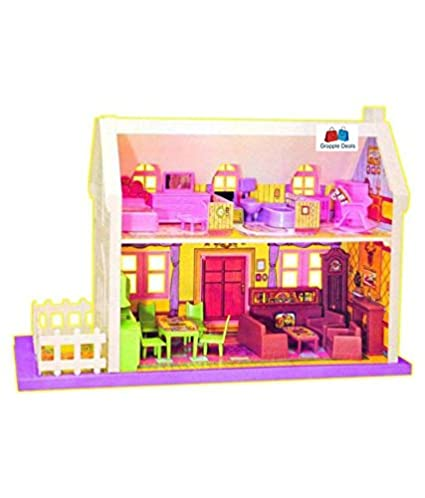 Buy Grapple Deals 34 Pieces Beautiful Doll House Set For Girls