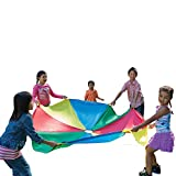 Pacific Play Tents Kids 20 Foot Parachute with Handles and Carry Bag for Groups and Preschools