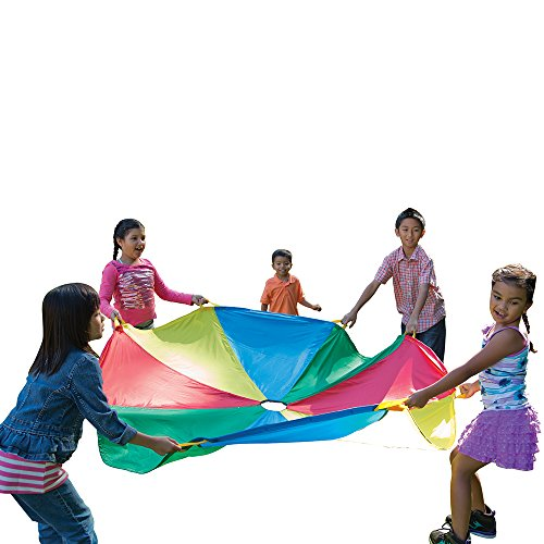 Pacific Play Tents 86-942 Kids 20-Foot Parachute with Handles and Carry Bag for Group or Preschool Fun